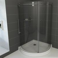 China Frameless Round Sliding Shower Enclosure with 10mm Clear Glass and Stainless Steel Hardware on sale
