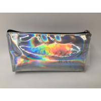 Buy cheap Laser PU Hologram Travel Cosmetic Bags , Small Makeup Pouch With Zipper from wholesalers