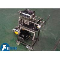 Buy cheap Bottom Wheels Moving Small Stainless Steel Plate And Frame Filter from wholesalers
