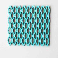A5052 Fluorocarbon Expanded Aluminum Mesh For Building Cladding Facade Manufactures