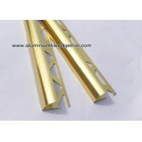 Quality YC12 Shiny Gold Aluminum Tile Edge Trim / Corner Brace For Decoration Or Construction for sale