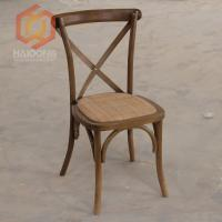 Beech Oak Wood Finished Cross Back Bent Restaurant Dining Outdoor Chair Manufactures