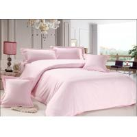 China Heat Resistance Dyeing Pink Dorm Bedding Sets 250TC 3CM Cotton & Polyester on sale