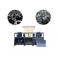 China High Output Tire Recycling Plant Car Tyre Shredder Machine Φ400×40mm Knife Size on sale
