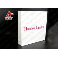 White Card Paper Material Promotional Carrier Bags , Branded Promotional Products Bags Manufactures