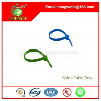 Buy cheap 7.6x350mm Black nylon66 material Self-Locking plastic wire cable tie straps from wholesalers