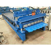 Roof And Wall Panel Glazed Tile Forming Machine PLC Control 5.5 KW Motor Manufactures