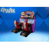 China Double Players Racing Game Machine Alloy Steel Structure With 1 Year Warranty on sale