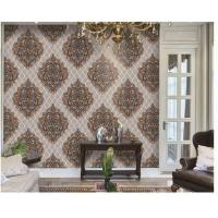 Washable PVC Vinyl Wallpaper , Classic Damask Wallpaper Designs For Living Room Manufactures