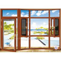 Heat Insulation 6063-T5 Aluminium Windows And Doors With Stainless Steel Security Mesh Manufactures
