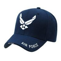China Cool Blue Strip Heavy Brushed Cotton Military Baseball Caps Embroidered , Personalized Printed on sale