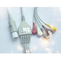 China Hellige Eagle1000 One Piece ECG Cable 5 Leads Latex Free Medical Materials on sale