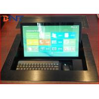 """Video Conference Motorized Monitor Lift With Dell 19"""" Screen 565*395*5mm Manufactures"""