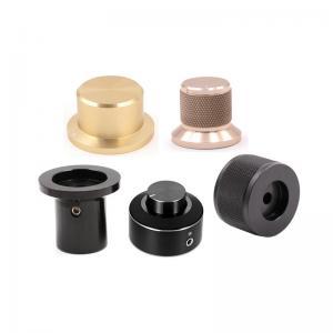 China Custom knurled aluminum electronic volume rotary audio switch encoder control knob on sale