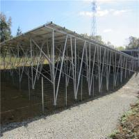 Solar Panel Structure Ground Galvanized Wire Mesh Panels on Grid Solar Steel Pile Manufactures