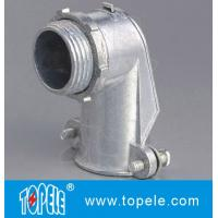 90 Degree Metal Zinc Flexible Conduit And Fittings Squeeze Angle Connectors Manufactures