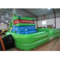 Crocodile cartoon themed inflatable water slide with big water pool big inflatable crocodile water pool slide Manufactures