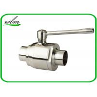 China High Sealing Sanitary Butt Weld Ball Valves With Bright Annealing Surface Treatment on sale
