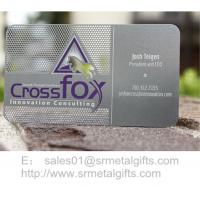 Innovative etching metal name card and member cards wholesale Manufactures