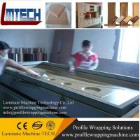 HDF Moulded Melamine Door Skin vacuum membrane press machine Manufactures