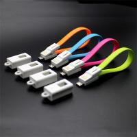 Key chain Micro USB Male to USB 2.0 Male Data Sync/Charging Cable 20cm for android phones Manufactures