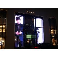 Quality Indoor Transparent Glass LED Display , DurableTransparent LED Curtain Display for sale