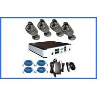 4PCS Waterproof 1.0 / 2.0MP IP POE Bullet HD CCTV Camera Kits For Home / Shop Manufactures
