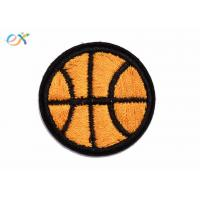 China Clothes Accessories Sports Iron On Embroidered Patches , Football Iron On Patch on sale