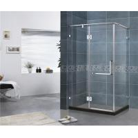 180 Degree Stainless Hinge Shower Enclosures  Rectangle With Support Bar 8 MM Tempered Glass Manufactures