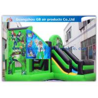China Green Ben 10 Theme Bouncy Castle Slide , Inflatable Jumping Castle For Kids on sale