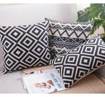 Classic black and white cushion,vector graphic polka dot cross chevron print cushion Manufactures