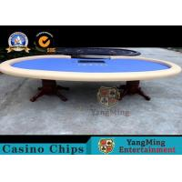 Luxury Texas Holdem 110 Inch Dye Sublimation 10 Seat Poker Table With Dealer Position Manufactures