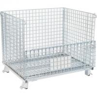 Durable Wire Mesh Container Foldable Portable Mesh Pallet Cages Manufactures