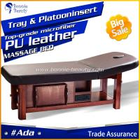 Solid Wooden SPA Adjustable Height Shiatsu Massage Table Manufactures
