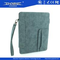 Imitation Fabric design PU Fashion protective Case with wrist strap and stand for the new iPad(iPad3) Manufactures