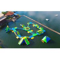 0.9mm PVC Tarpaulin Adults  Inflatable Floating Water Park Games With TUV Certification Manufactures