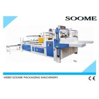 Semi - Automatic Folder Gluer Machine Size 2800mm*340mm For Pasting Carton Box Manufactures