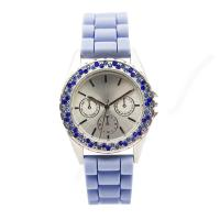 1ATMPC32 Customized Movement Silicone Wristband Watch With Blue Stone Manufactures