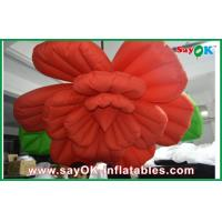 Wedding Inflatable Lighting Decoration /  Red Inflatable Flower Lighting Manufactures
