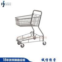 Best price canadian style steel material supermarket shopping cart with four wheel Manufactures