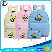 China Women Fashion Cartoon Book Bag Canvas Materials Outdoor School Bag For Students on sale