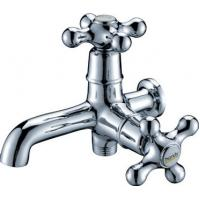 Brass Chrome Plated Single Cold Water Taps with Double Handles for Mop Pool , HN-5F01 Manufactures