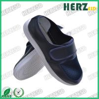 Dark Blue Electrostatic Discharge Shoes Mesh Upper Dust Free With Velcro Manufactures