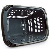 China Plastic Rolling Shopping Basket For Store , 4 Wheeled Shopping Trolleys On Wheels on sale