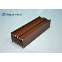 Red Brown Powder Coating Aluminium Extruded Profile Shapes , ISO9001:2004 Manufactures
