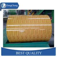 China Wood Grain Aluminium Coated Sheet Interior Decorating For Gutter Coil on sale