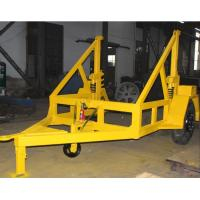 Customized Cable Drum Trailer , High Load Bearing Capacity Cable Reel Trailer Manufactures
