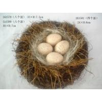 Handmade henhouse and eggs,Specification:33×H:7.5cm,nature material Manufactures