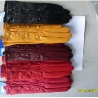 Lady′s Wrinkle Leather Gloves with Buttons (BL1019) Manufactures