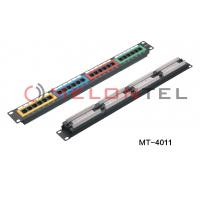 High Density Network Patch Panel 24 Port CAT5E Cat6 With 4 Kind Of Colour Manufactures